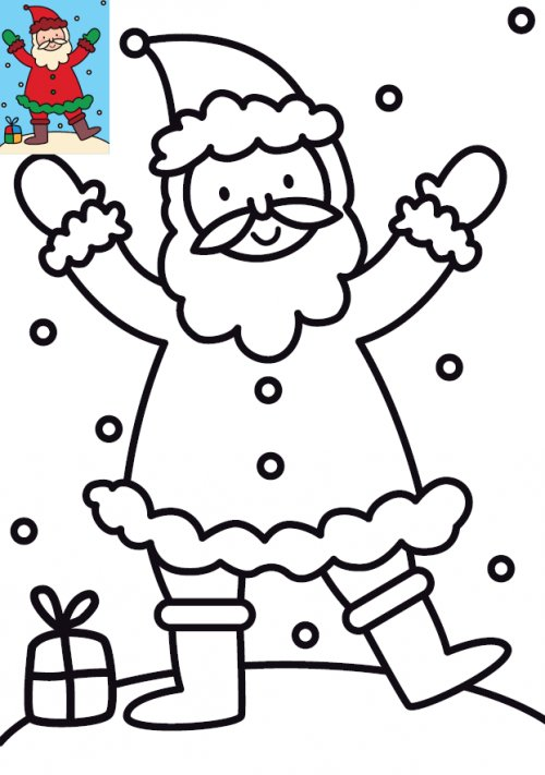 Dessins et illustrations de no l coloriage p re no l - Coloriage traineau pere noel gratuit imprimer ...