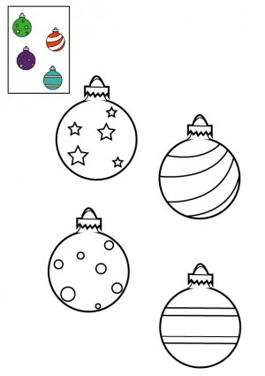 coloriage les boules de no l accroch es au sapin imprimer pour les enfants. Black Bedroom Furniture Sets. Home Design Ideas