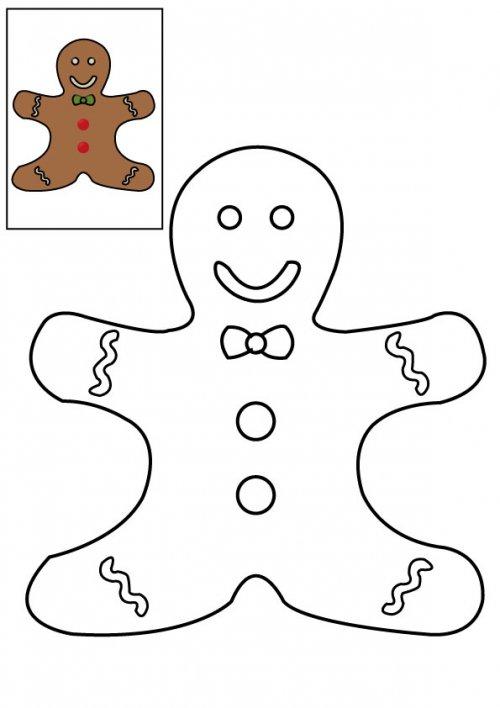 Coloriage du petit bonhomme en pain d 39 pice imprimer pour les enfants - Coloriage petit bonhomme de pain d epice ...