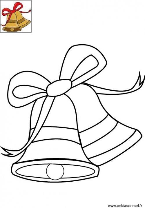 coloriage de no l les cloches de no l imprimer gratuitement pour les enfants. Black Bedroom Furniture Sets. Home Design Ideas