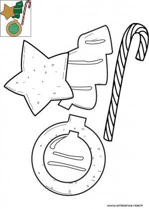 Coloriage Sucre d'orge et friandises de Noël
