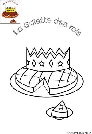 Coloriage de no l la galette des rois imprimer gratuitement pour les enfants - Coloriage de galette ...
