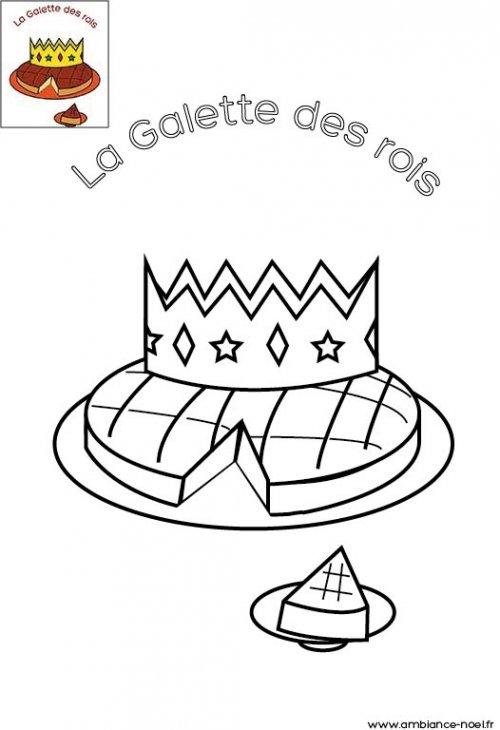 Coloriage de no l la galette des rois imprimer - Coloriage galette ...