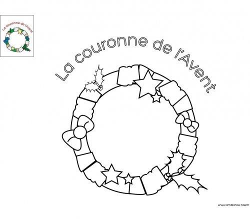 Coloriage la couronne de l 39 avent imprimer pour les - Couronne de l avent originale ...