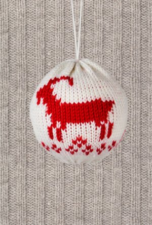 Les boules de Noël en tissu