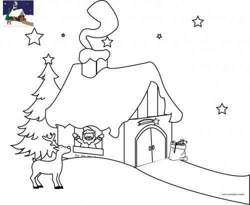 Coloriage de maison de noel quotesdelivered for A la maison pour noel