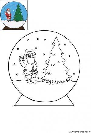 coloriage de no l la boule neige de no l imprimer pour les enfants. Black Bedroom Furniture Sets. Home Design Ideas