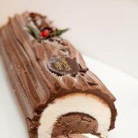 Recette fondante de la bûche de noël glacée à la mangue et au chocolat