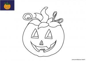 Coloriage d'Halloween à imprimer pour les enfants, Jack O'lantern