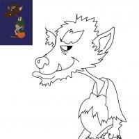 Coloriage d'Halloween à imprimer pour les enfants, Le loup-garou