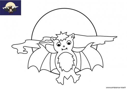Coloriage D Halloween à Imprimer Pour Les Enfants La Chauve