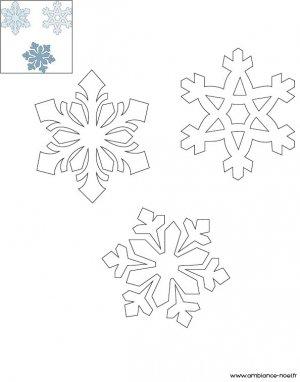 Coloriage de Noël, Les flocons de neige à imprimer gratuitement pour les enfants