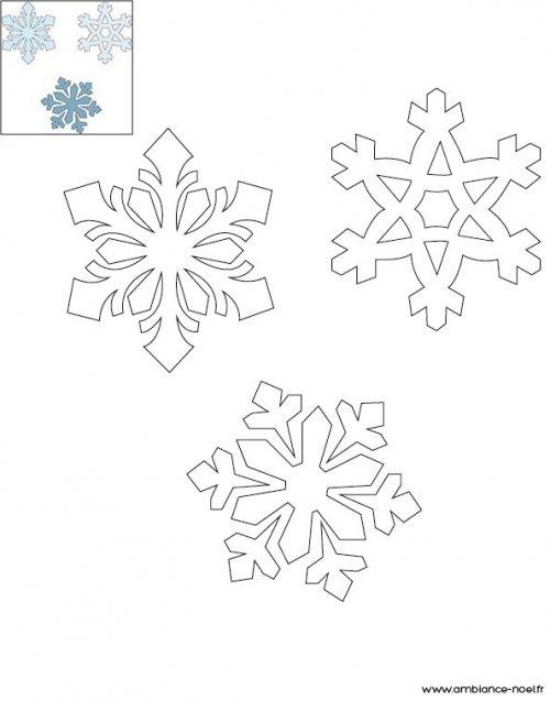 Coloriage de no l les flocons de neige imprimer - Dessin flocon de neige facile ...