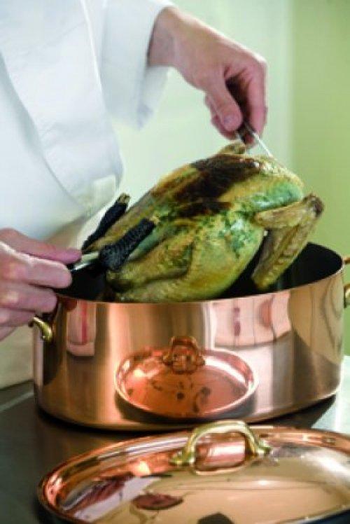 Le chapon aux ch taignes une recette simple pour no l - Cuisiner une poularde pour noel ...