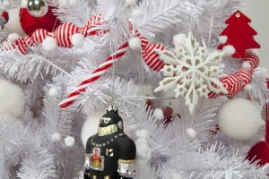 Le sapin de Noël floqué