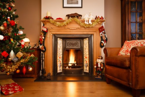 Indoor Fireplace Christmas Tree Photography Background: Le Top 5 Des Couleurs Tendances Pour La Décoration De Mon