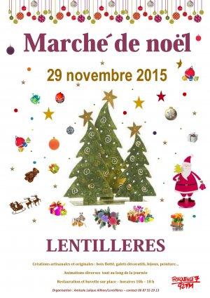 Marché de Noël à Lentillères